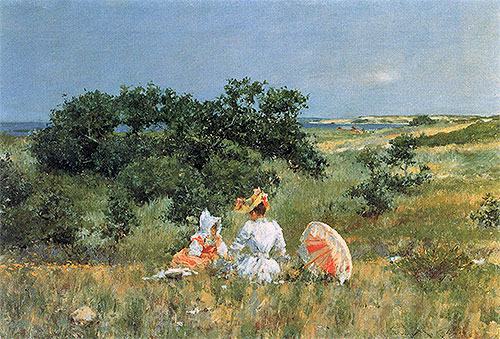 William Merritt Chase | The Tale, 1892 | Giclée Canvas Print