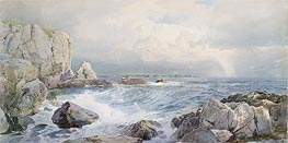 William Trost Richards | Rocks and Cliffs near the Sea | Giclée Canvas Print