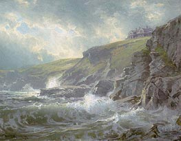 William Trost Richards | View of the Artist's Home, Graycliff, Newport, Rhode Island, 1894 | Giclée Canvas Print