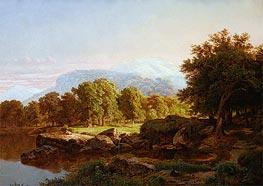 William Trost Richards | Summer Landscape, 1859 | Giclée Canvas Print