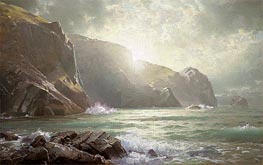 William Trost Richards | Cornish Coastline, undated | Giclée Canvas Print