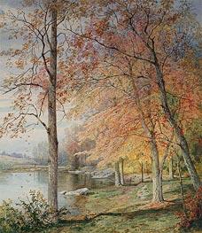 William Trost Richards | Autumn by a Pond, 1874 | Giclée Paper Print