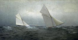 William Trost Richards | 20 Miles to Windward (1885 America's Cup Race), 1885 | Giclée Canvas Print