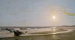 William Trost Richards | Seascape, 1870 | Giclée Canvas Print