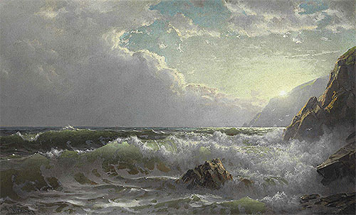 Off the Coast of Cornwall, 1904 | William Trost Richards | Painting Reproduction