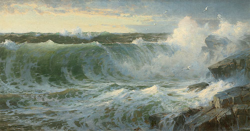 Rocky Surf Off Rhode Island, 1899 | William Trost Richards | Painting Reproduction