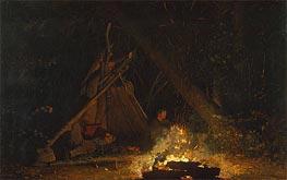 Winslow Homer | Camp Fire | Giclée Canvas Print
