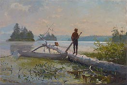 Winslow Homer | An Adirondack Lake (The Trapper), 1870 | Giclée Canvas Print