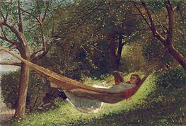 Winslow Homer | Girl in the Hammock, 1873 | Giclée Canvas Print