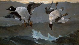Winslow Homer | Right and Left, 1909 | Giclée Canvas Print