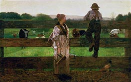 Winslow Homer | Milking Time, 1875 | Giclée Canvas Print