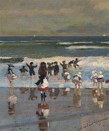 Winslow Homer | Beach Scene, c.1869 | Giclée Canvas Print