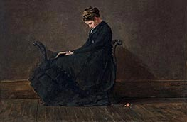 Winslow Homer | Portrait of Helena de Kay, c.1872 | Giclée Canvas Print