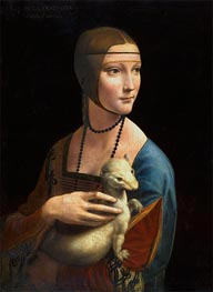 Leonardo da Vinci | Lady with an Ermine (Cecilia Gallarani), 1496 by | Giclée Canvas Print
