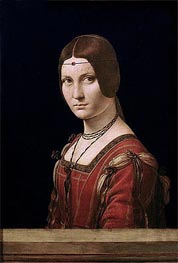Leonardo da Vinci | La Belle Ferronniere (Portrait of a Lady from the Court of Milan) | Giclée Canvas Print