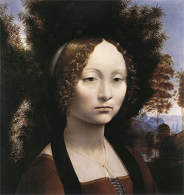 Portrait of Ginevra de' Benci, c.1474/78 | Leonardo da Vinci | Painting Reproduction