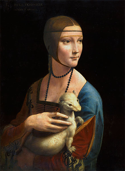 Lady with an Ermine (Cecilia Gallarani), 1496   Leonardo da Vinci   Painting Reproduction