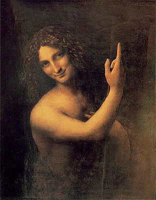 St John the Baptist, c.1513/16   Leonardo da Vinci   Painting Reproduction