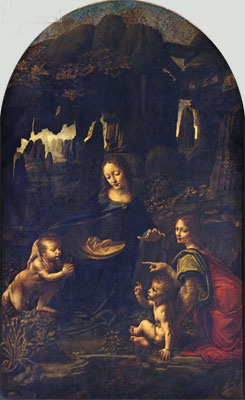 The Virgin of the Rocks, c.1483/86   Leonardo da Vinci   Painting Reproduction