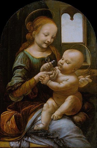 Benois Madonna, c.1478   Leonardo da Vinci   Painting Reproduction