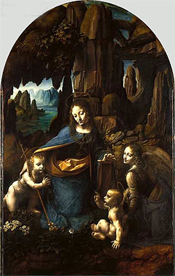 The Virgin of the Rocks, c.1493/08 | Leonardo da Vinci | Painting Reproduction