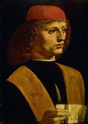 Portrait of a Musician, c.1485   Leonardo da Vinci   Painting Reproduction
