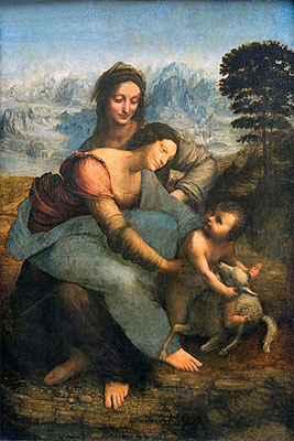 Virgin and Child with St. Anne, c.1502/13 | Leonardo da Vinci | Painting Reproduction