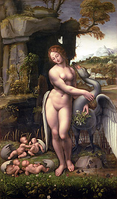 Leda and the Swan, c.1505/15 | Leonardo da Vinci | Painting Reproduction